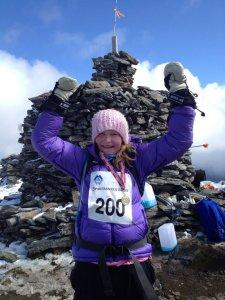 Datteren min til topps i motbakkeløp